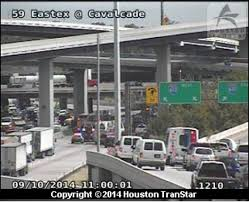 Houston Transtar Map Accident Leaves Big Rig Hanging From 610 Loop Closes 59 Houston
