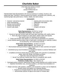 Retail Resume Example by Resume Examples For Retail Jobs