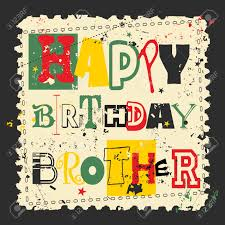 retro happy birthday card on grunge background happy birthday
