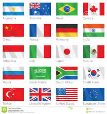 Flags Of Countries Waving Flags Of G 20 Countries Stock Vector Illustration 8788311