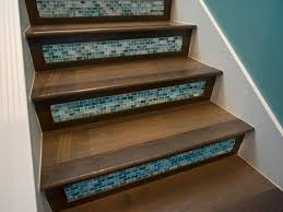 Foyer Stairs Design Tiles For Stair Risers Blue Mediterranean Style Tiled Foyer Stairs