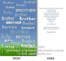 8 best images of free printable birthday cards for brother free