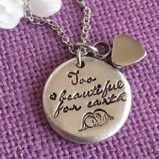 Baby Remembrance Jewelry Best Miscarriage Necklace Products On Wanelo