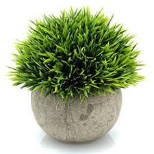 Home Decorating Plants Amazon Com Velener Mini Plastic Fake Green Grass Of Plants With