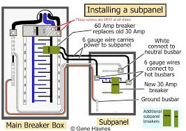 breaker wiring diagram how to install subpanel lug within