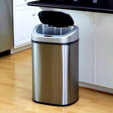 kitchen stunning best kitchen trash can reviews bins stainless