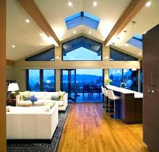 recessed lighting angled ceiling cathedral ceiling lighting ideas vaulted ceiling living room