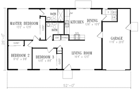 three bedroom two bath house plans ranch style house plan beds baths sqft open plans with basements