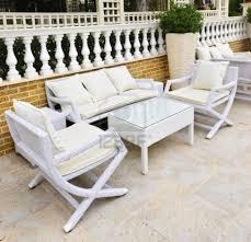 White Wicker Patio Furniture Goodfurniturenet - White wicker outdoor furniture