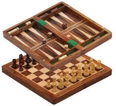amazon com 1 chess and backgammon game 12x12