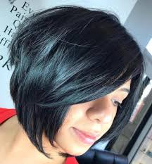 one side stack sassy bob bllack hair the full stack 30 hottest stacked haircuts