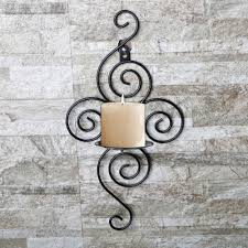 Decorative Wall Shelf Sconces Aliexpress Com Buy Candlestick Holders Handmade Iron Hanging
