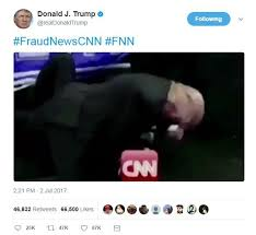 Controversial Memes - donald trump shares bizarre wrestling meme showing him beating cnn