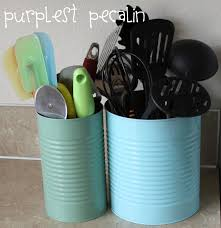 Green Kitchen Canisters Purplest Pecalin Diy Kitchen Canisters