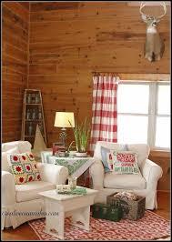 white slipcovered furniture in a log home hometalk