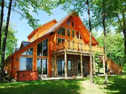Cabin Style Home by This Beautiful Log Style Home Offers Visito Vrbo