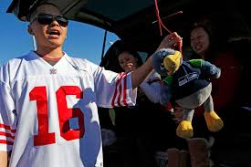 49ers fans serve thanksgiving dinner while tailgating sfgate