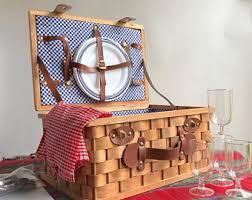 vintage picnic basket picnic basket etsy