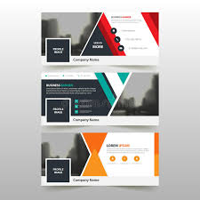 layout banner template green red orange corporate business banner template horizontal