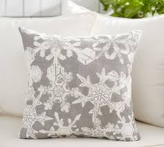 Outdoor Decorative Christmas Pillows by Snowflake Indoor Outdoor Pillow Pottery Barn