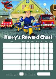 personalised fireman sam reward chart adding photo option available