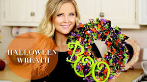 Deco Mesh Halloween Wreath Ideas by Diy Halloween Wreath Youtube