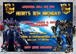 transformers birthday transformers birthday invitations marialonghi