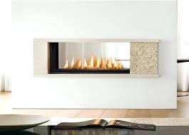 Indoor Outdoor Wood Fireplace Double Sided - 3 sided gas fireplace ideas vent free 2 double balanced flue fire