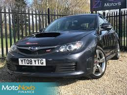 blue subaru hatchback used 2008 subaru wrx sti 2 5 impreza type uk hatchback remapped