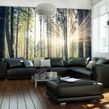 Design Von Schlafzimmer Gemtliches Modell Schlafzimmer Fototapete Wald Motive Zum