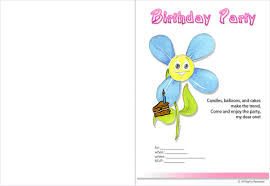 invitations free printable birthday cards for kids