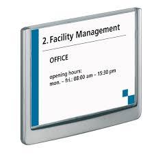 signaletique bureau durable plaque de porte click sign format a6 paysage coloris