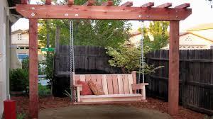 cement designs patio diy freestanding arbor swing arbor swing