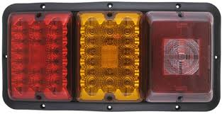 led tail lights for a trailer bargman triple tail light 84 85 series red and amber led