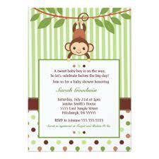 mod baby shower monkey baby shower invitations 1300 monkey baby shower