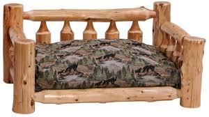 log dog bed rustic dog beds hand peeled white cedar log beds
