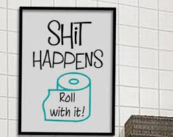 bathroom prints etsy
