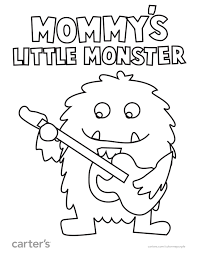 mommy u0027s monster ready play fun coloring pages
