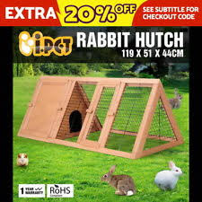 Rabbit Hutch With Detachable Run Small Animal Hutches Ebay