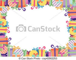 colorful ribbon white background with colorful ribbon gift box border in