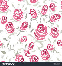 vintage shabby chic rose seamless pattern stock vector 369661352