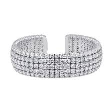 diamond bracelet cuff images Uneek 5 row round diamond open cuff bracelet in 18k white gold jpg
