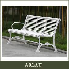 Steel Outdoor Bench Fs184 Arlau Outdoor 2 Seater Steel Bench Cast Iron Chairs Wrought