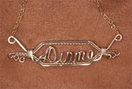 Gold Name Plated Necklace Name Plate Necklace 14k Gold Fill