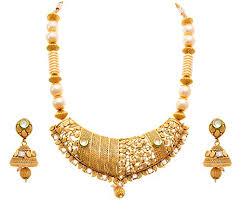 jfl jewellery for less one gram gold plated kundan pearl cz