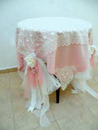 pink round table covers shabby chic wedding tablecloth dusty pale pink ivory linen