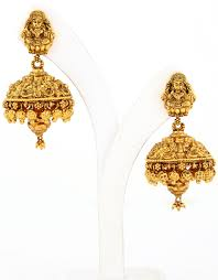 design of gold earrings ear tops lakshmi nagas jimukka jewelry jhumkka gira re
