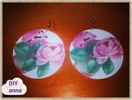 decoupage earrings decoupage earrings roses diy ideas craft tutorial uradi sam