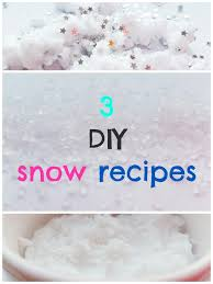 diy snow how to make fake snow at home 3 easy recipes make snow