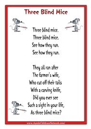 three blind mice rhyme worksheets childcare pinterest three